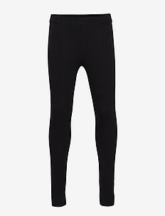 Cotton leggings - BLACK