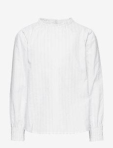 Striped lurex blouse - NATURAL WHITE