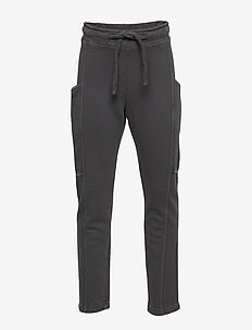 Pocket cotton trousers - CHARCOAL