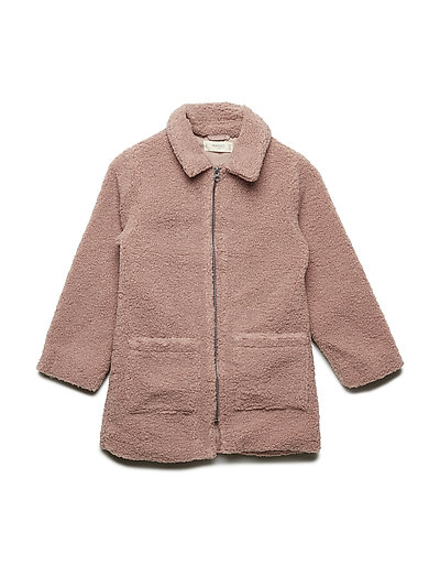 Faux shearling coat - PINK