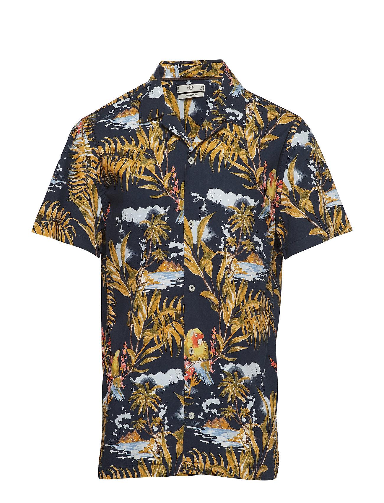 Mango Man Hawaiian printed slim fit shirt Ögrönlar