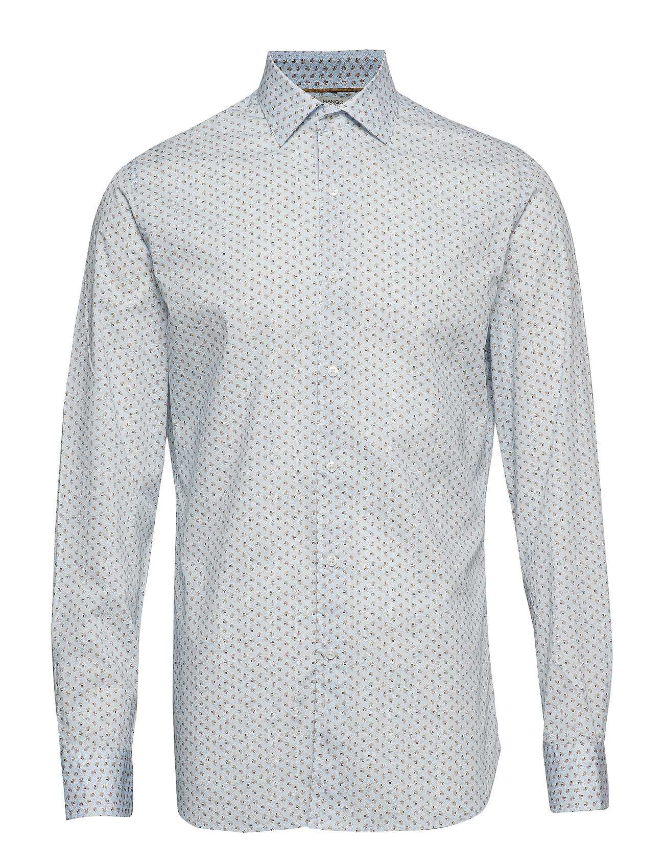 Mango Man Slim-fit micro print shirt