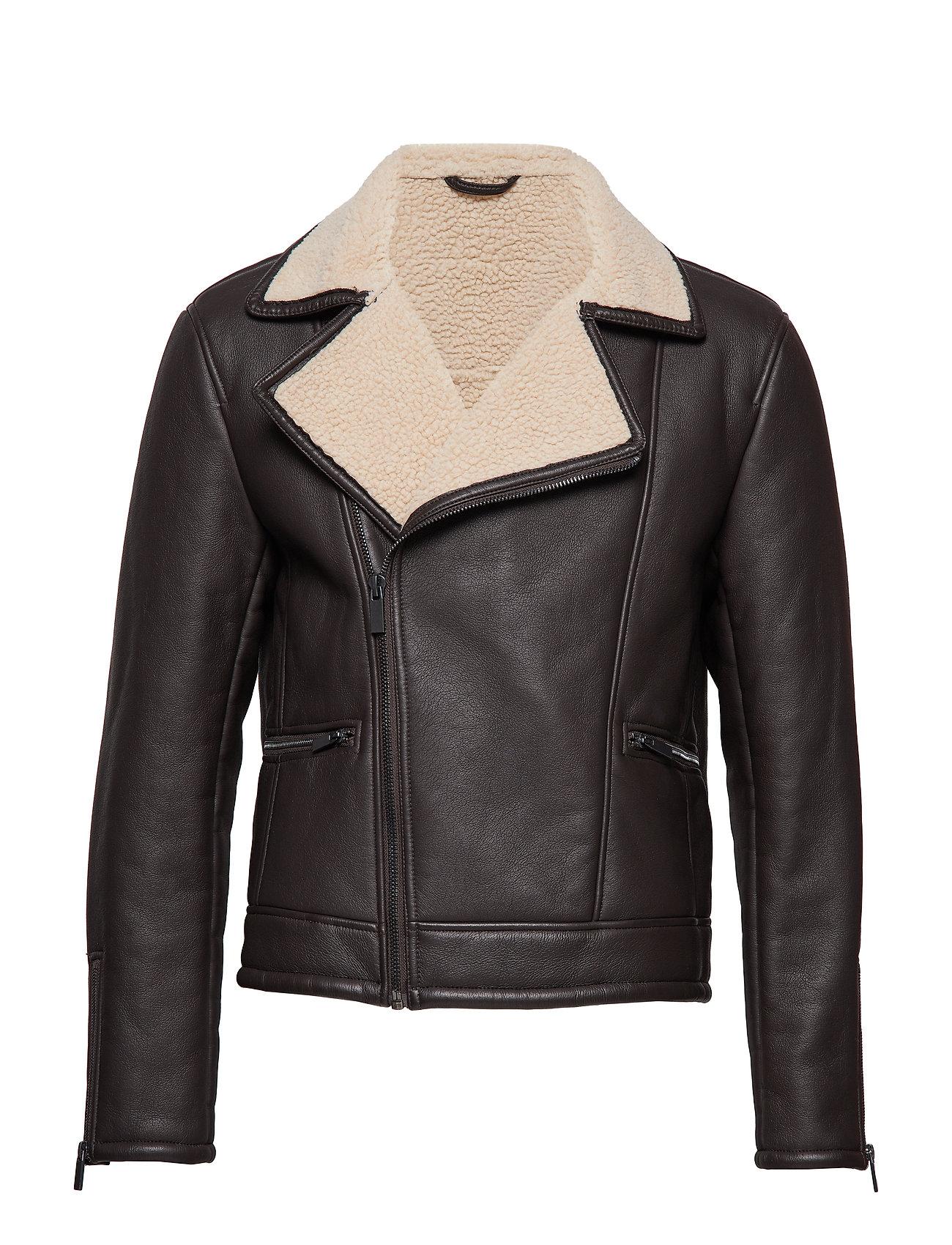 Mango Man Faux shearling lining lapels jacket Ytterkläder
