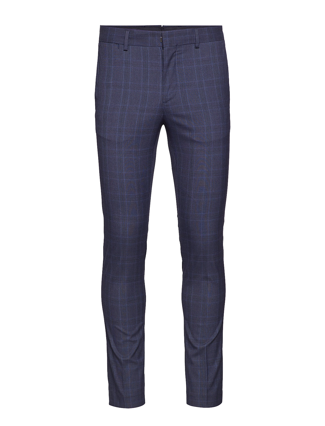 Super Slim Fit Suit Pants Habitbukser Stylede Bukser Blå MANGO MAN