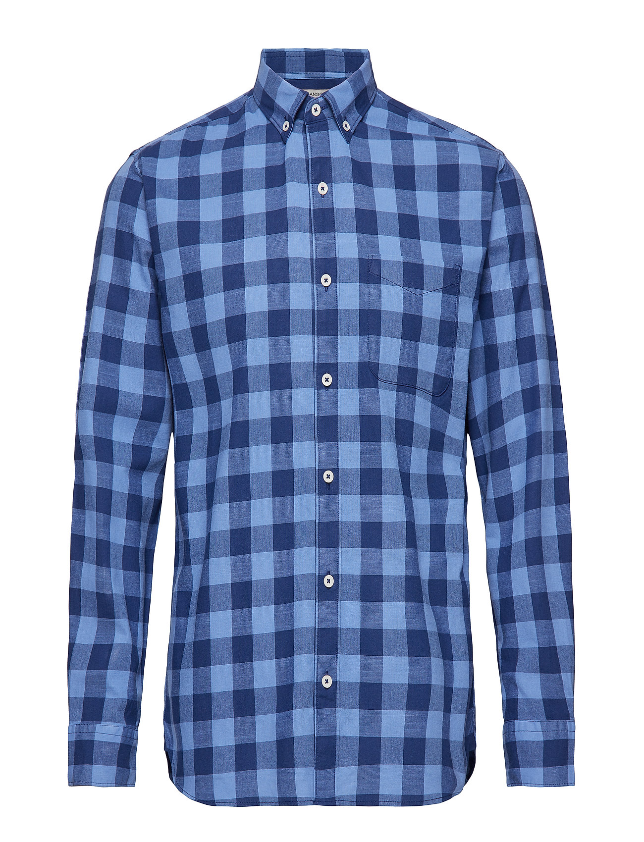 538eb892 Rød Mango Regular-Fit Check Cotton Shirt casual skjorter for herre ...