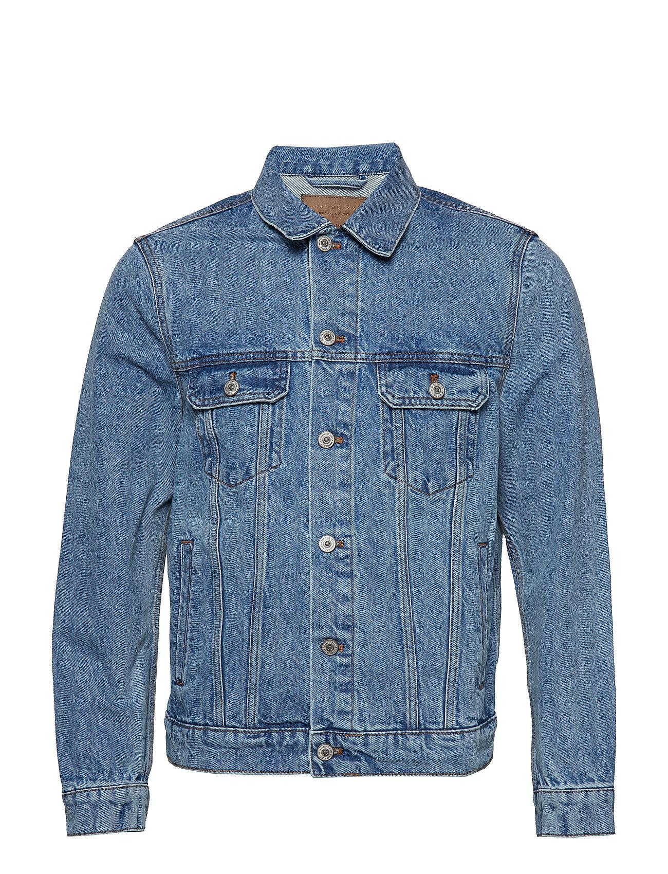 Mango Man Faded medium wash denim jacket Ytterkläder