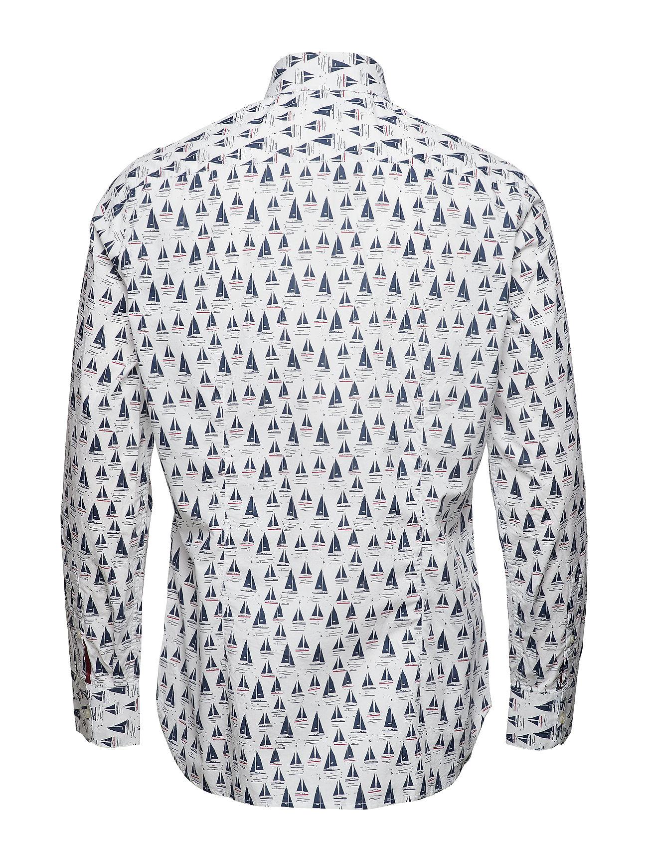 Nye Mango Slim Fit Hvid Skjorte Herre Udsalg