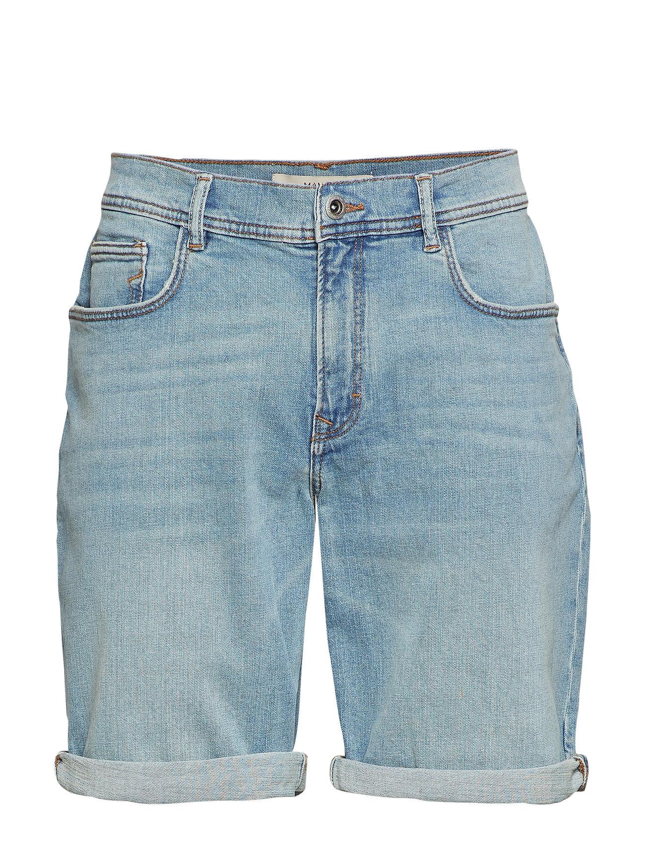 Mango Man Light wash denim bermuda shorts Shorts