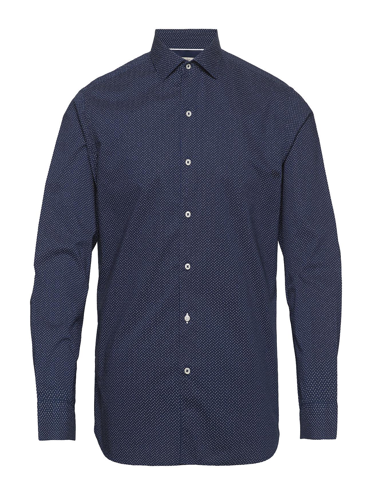 Mango Man Slim-fit micro print shirt