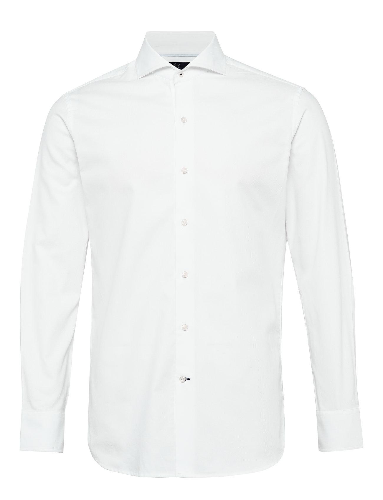 Mango Man Slim fit Tailored cotton shirt - WHITE