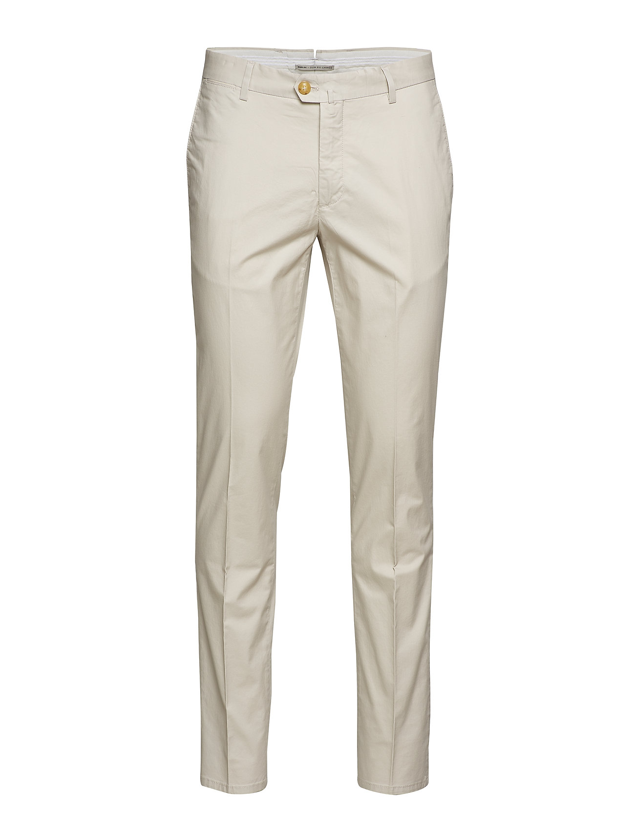 Mango Man Slim fit serge chino trousers - LIGHT BEIGE