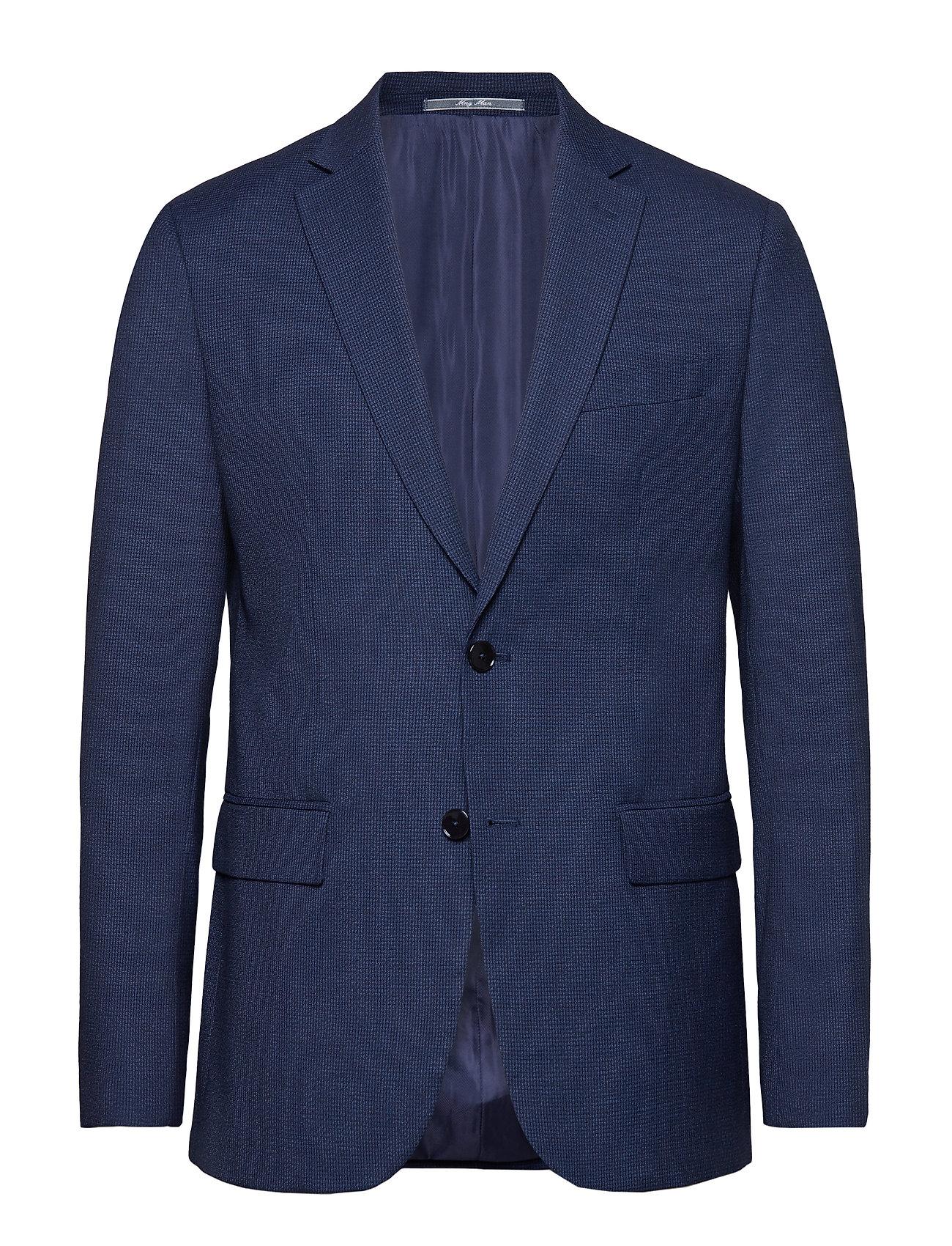 Mango Man Slim fit microstructure suit blazer - MEDIUM BLUE