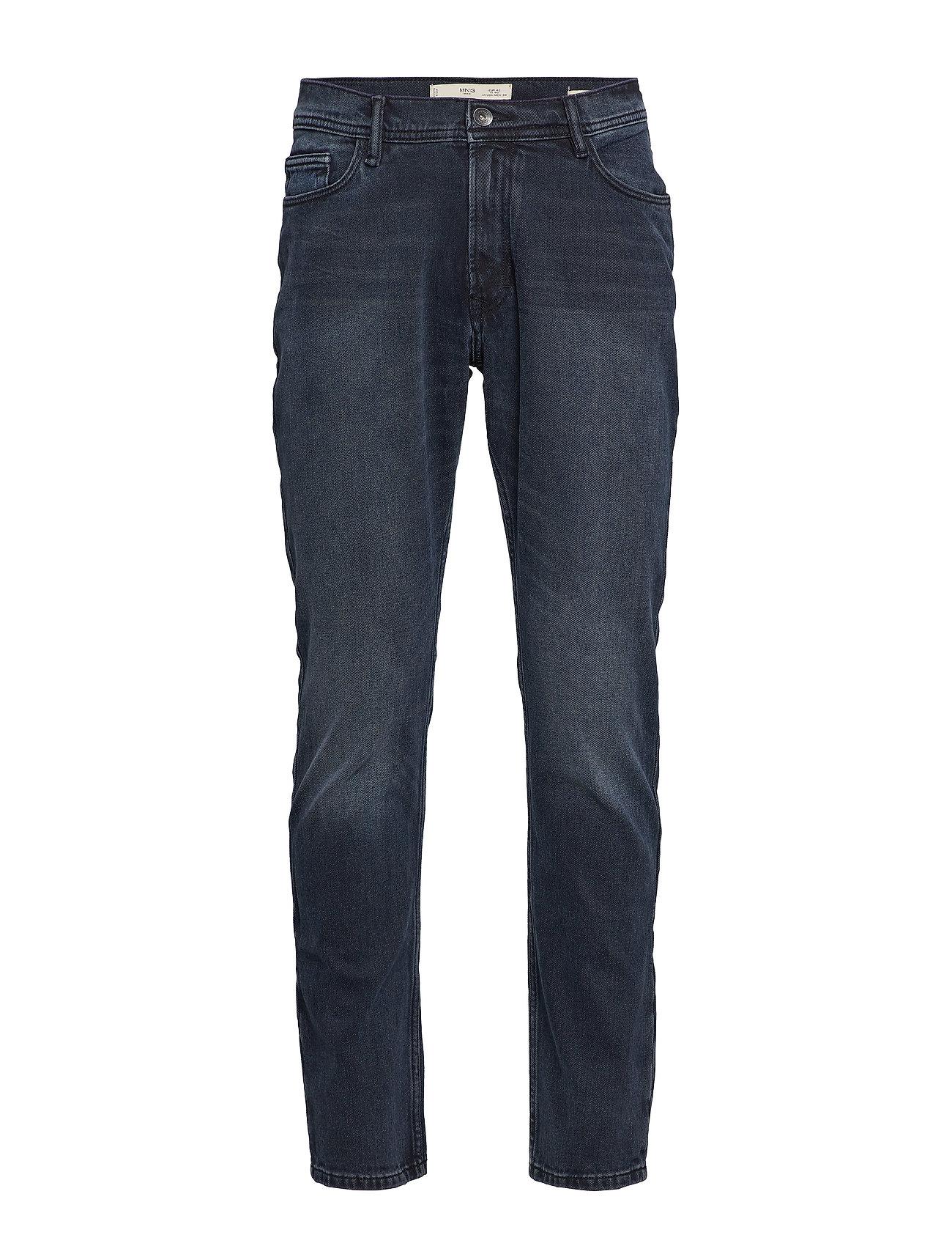 Mango Man Slim fit blue black Jan jeans - OPEN BLUE