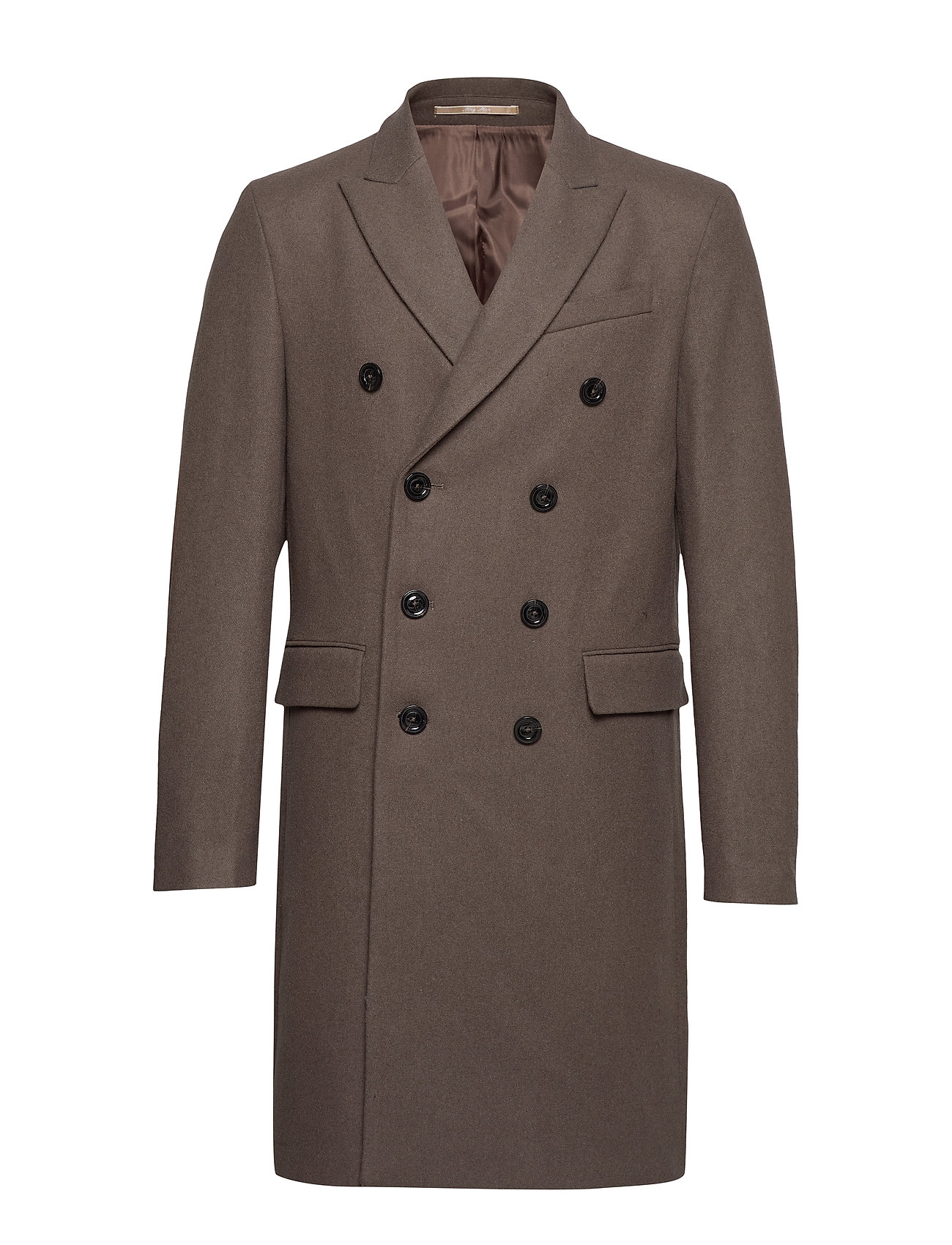 Mango Man Double-breasted wool Tailored coat - MEDIUM BROWN