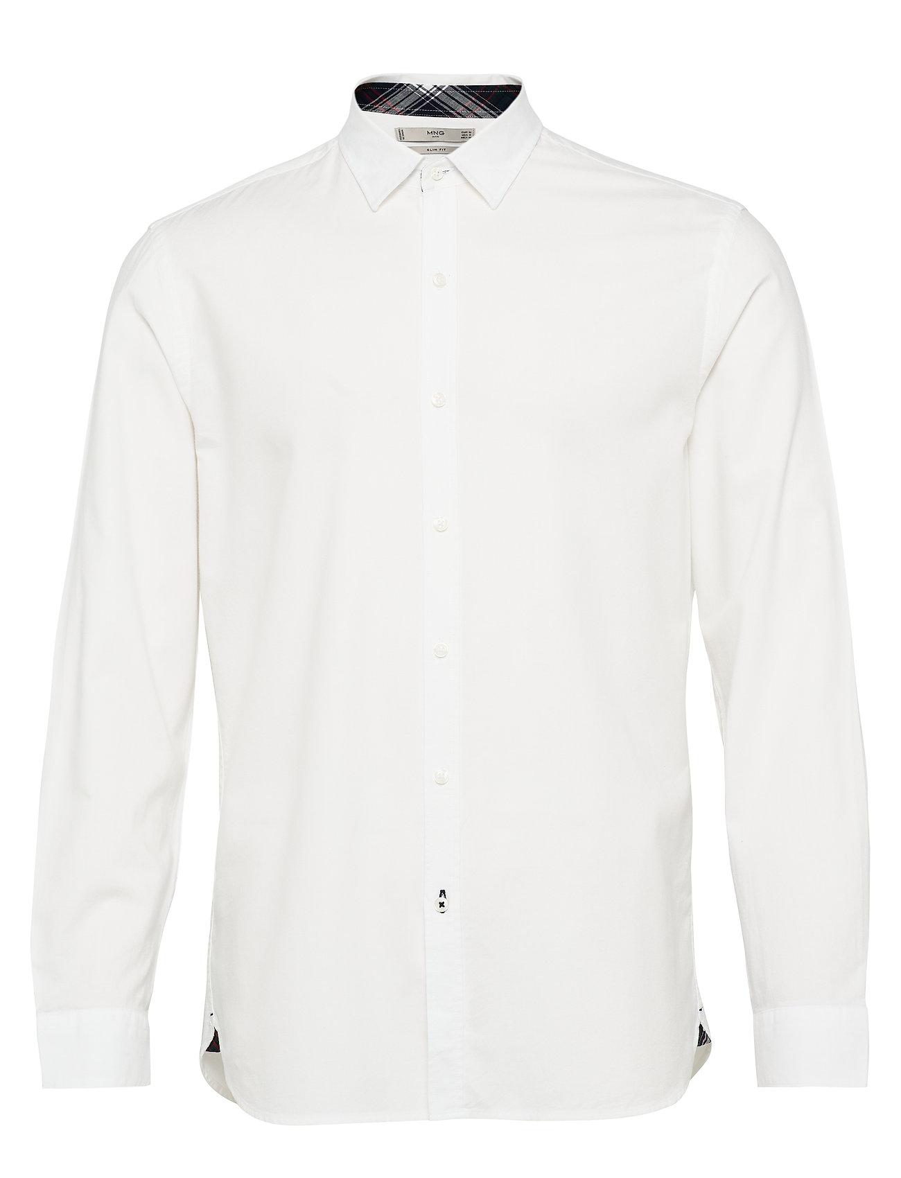 Mango Man Slim fit modal cotton shirt - WHITE