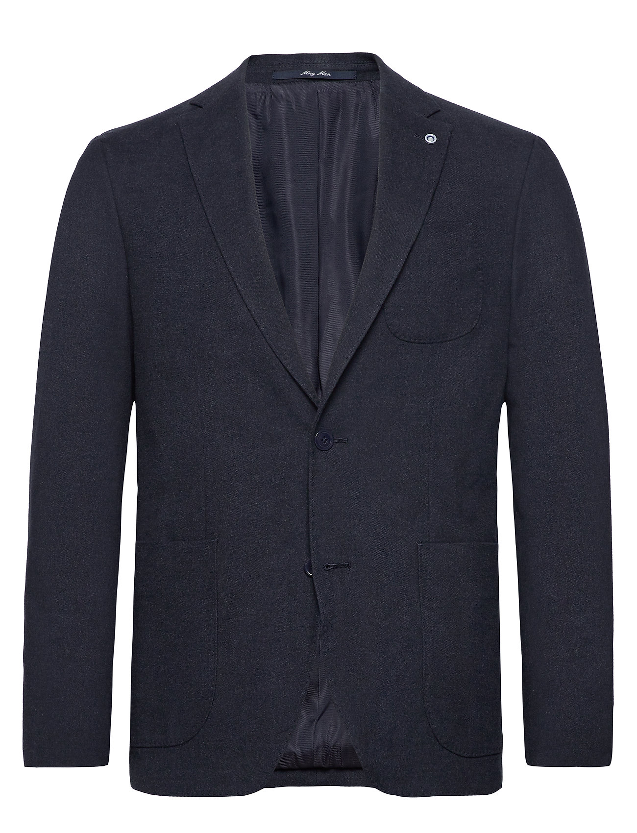 Mango Man Textured slim fit blazer - MEDIUM BLUE