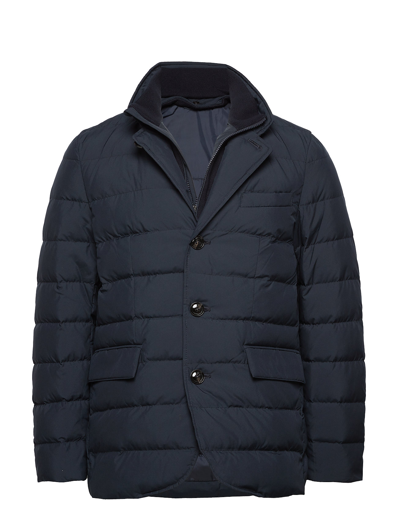 Mango Man Detachable water-repellent quilted anorak - NAVY