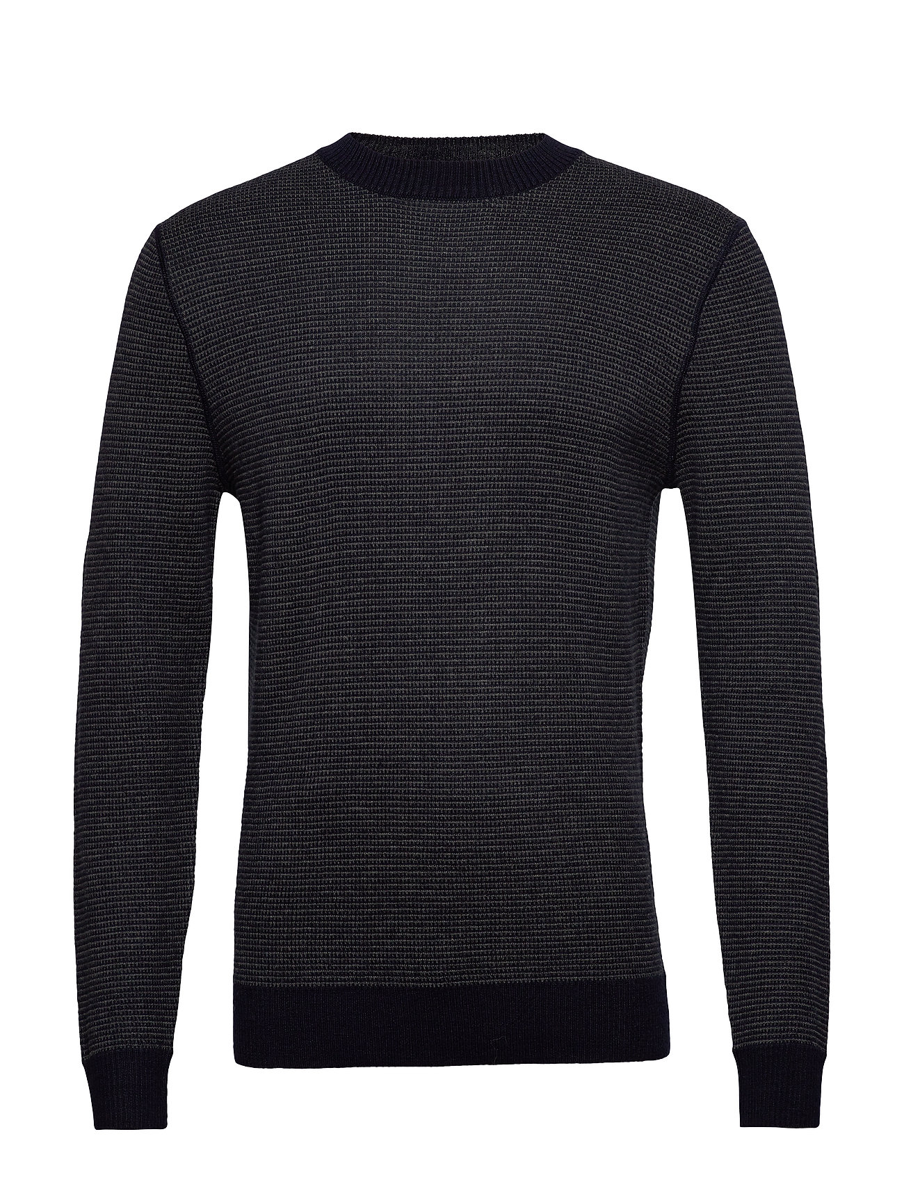 Mango Man Structured wool sweater - NAVY