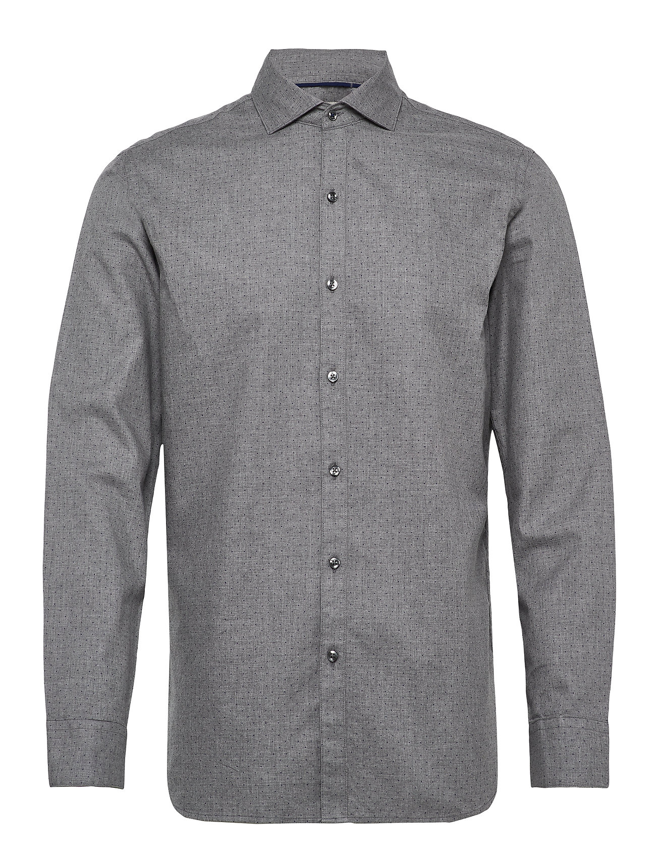 Mango Man Slim fit polka-dot cotton shirt - GREY
