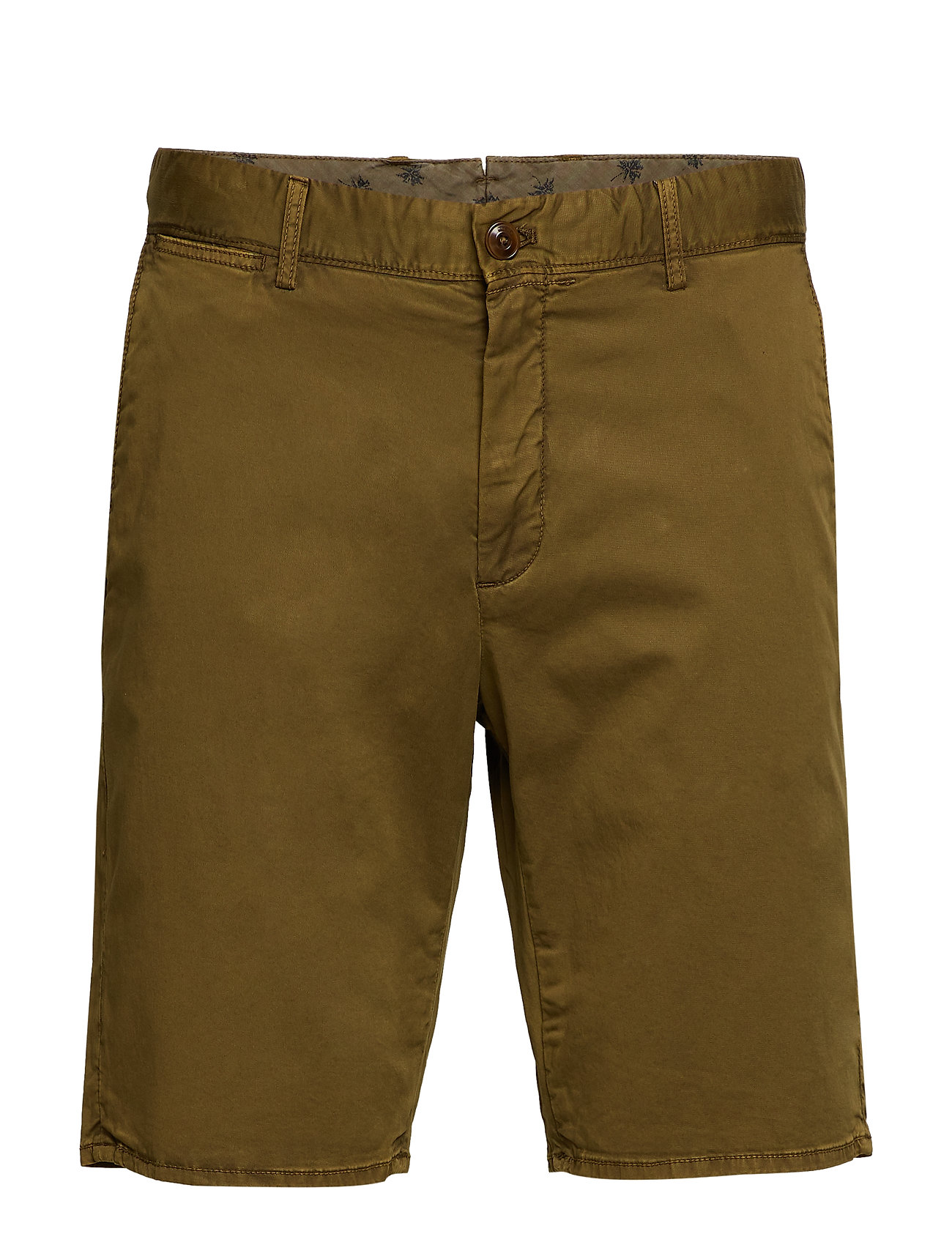 MANGO MAN Plain Cotton Chino Bermuda Shorts Shorts Chinos Shorts Grön MANGO MAN