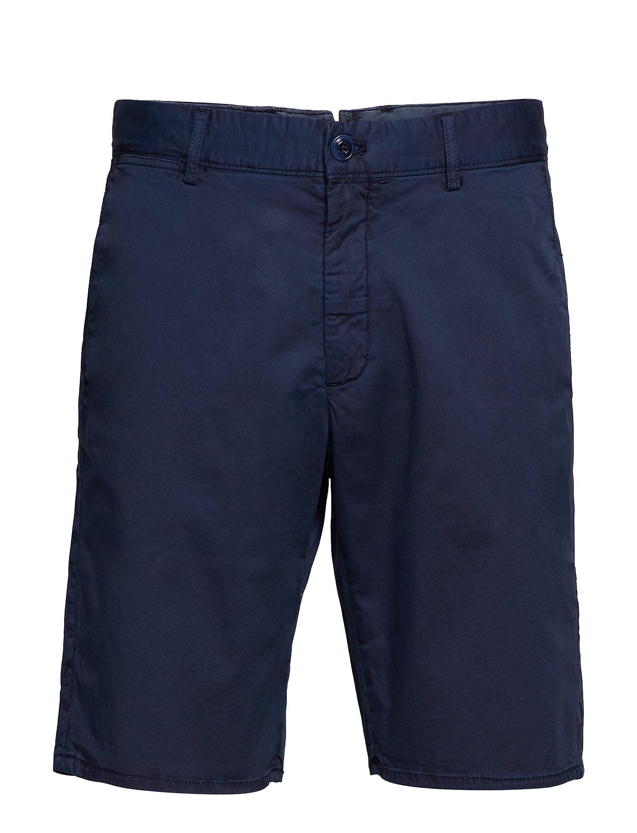 MANGO MAN Plain Cotton Chino Bermuda Shorts Shorts Chinos Shorts Blå MANGO MAN