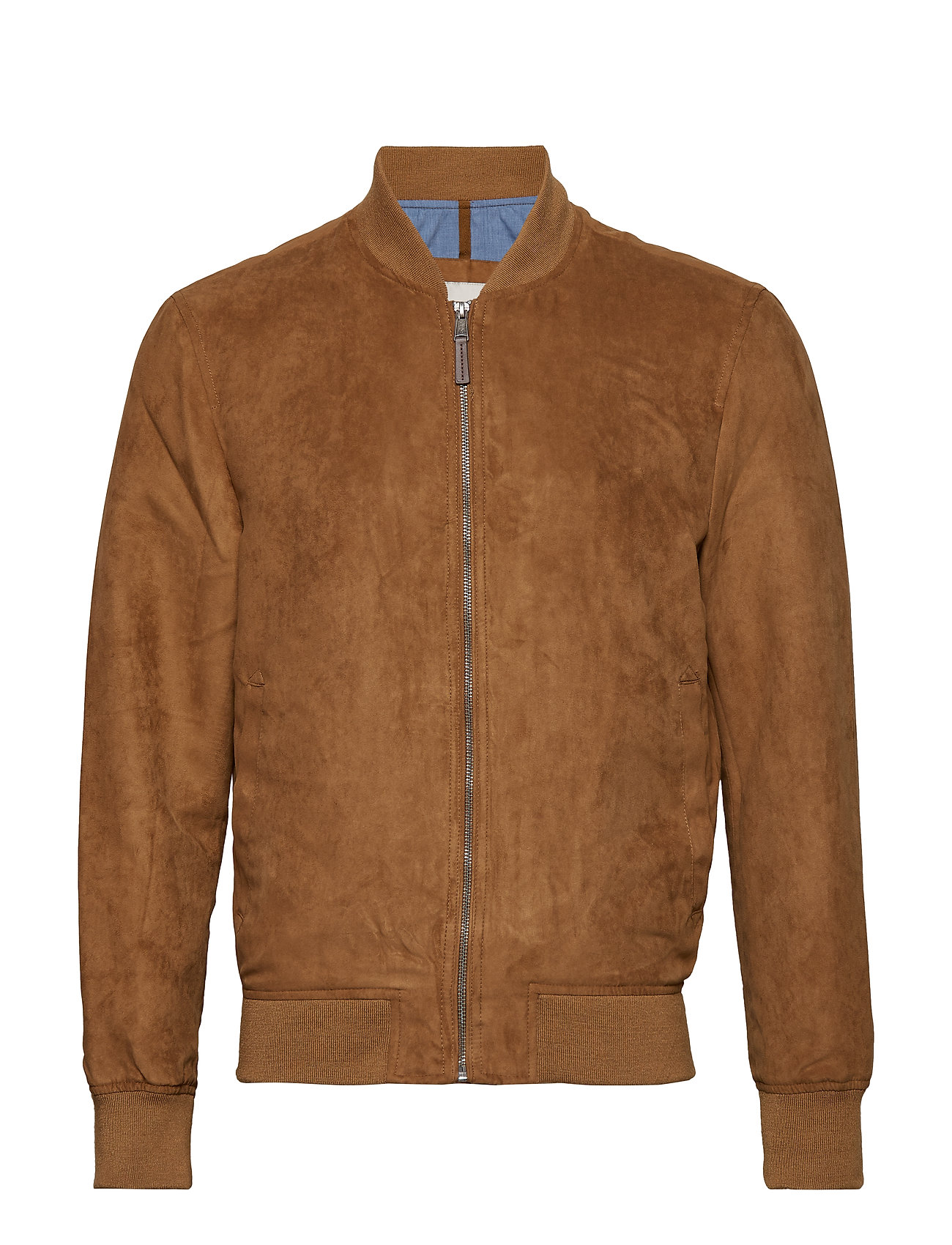 faux-suede-bomber-jacket by mango-man