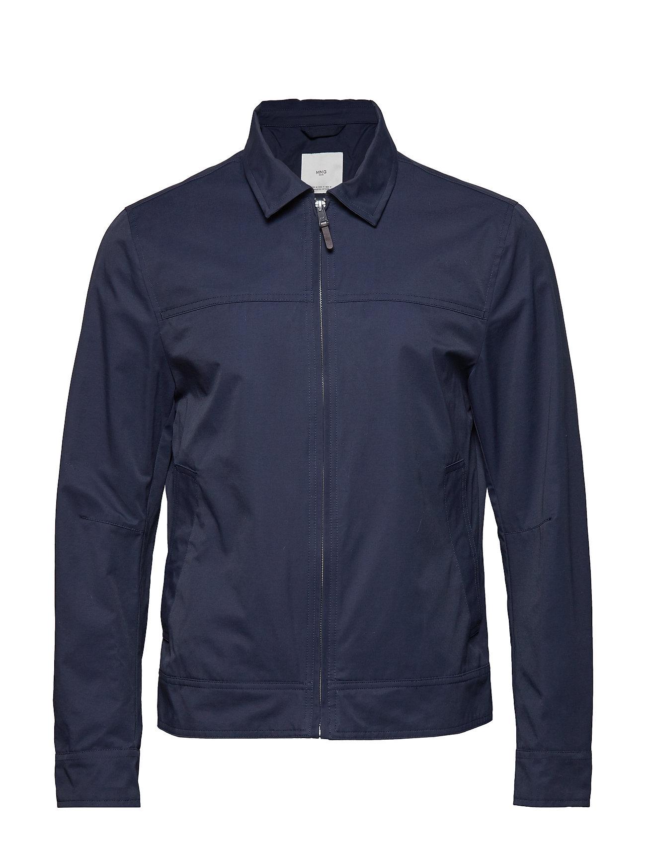 Mango Man Zipper cotton jacket - NAVY