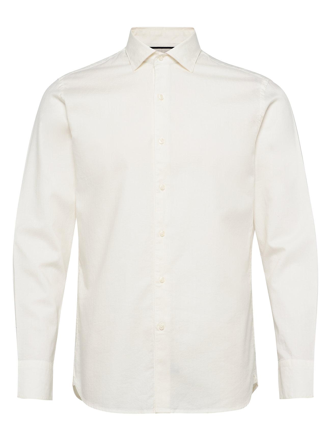 Mango Man Slim fit herringbone shirt - WHITE