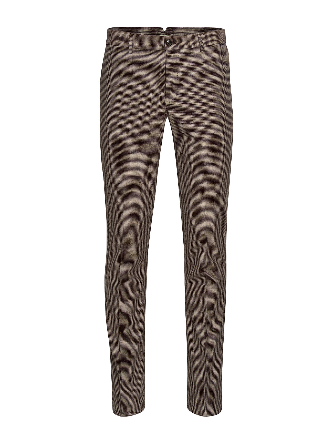 Mango Man Slim fit structured cotton trousers - BROWN