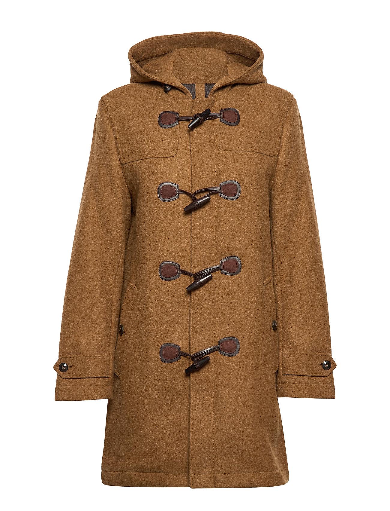 Mango Man Toggle wool coat - MEDIUM BROWN