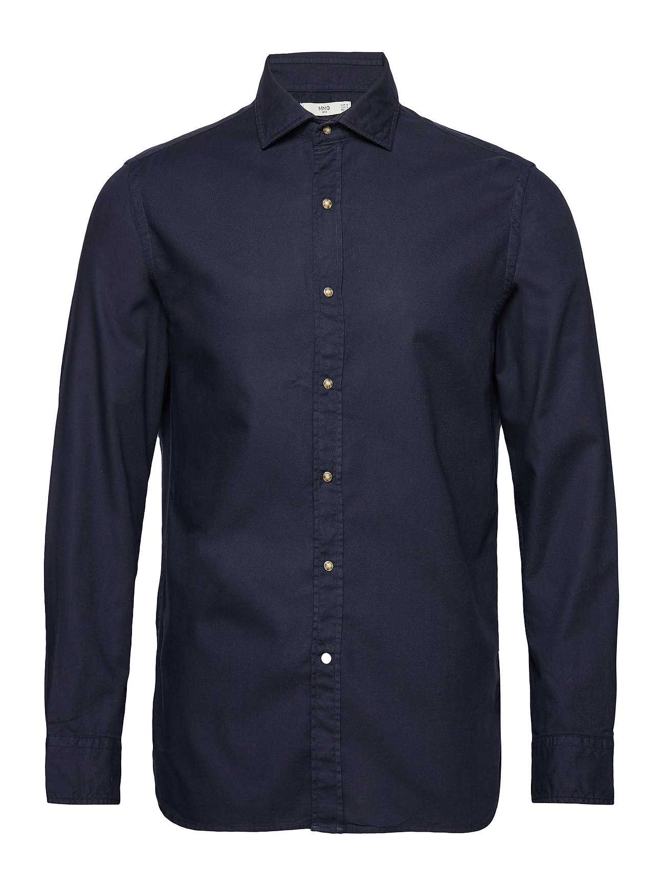 Mango Man Slim fit pearl buttons shirt - NAVY