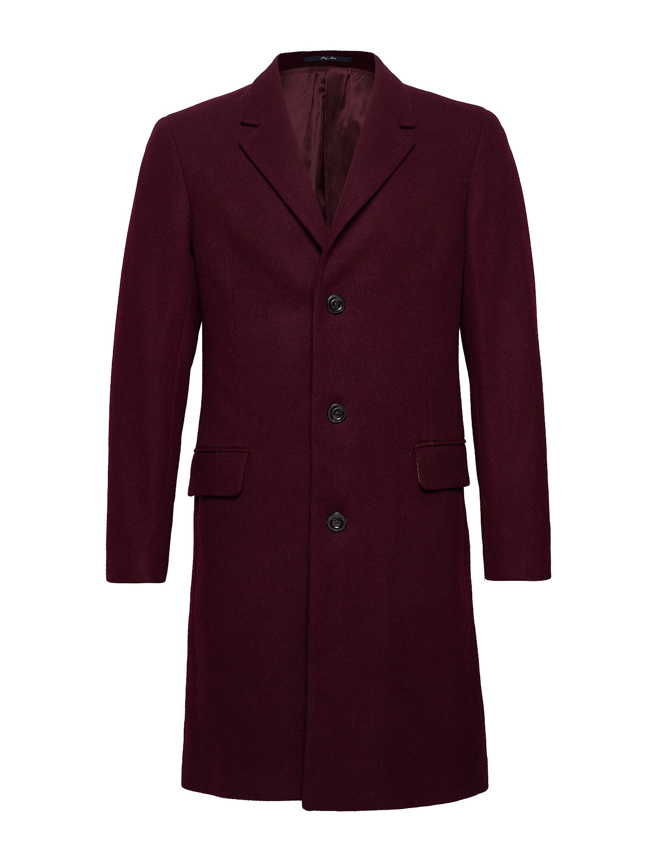 Mango Man Tailored lapels wool coat - DARK RED