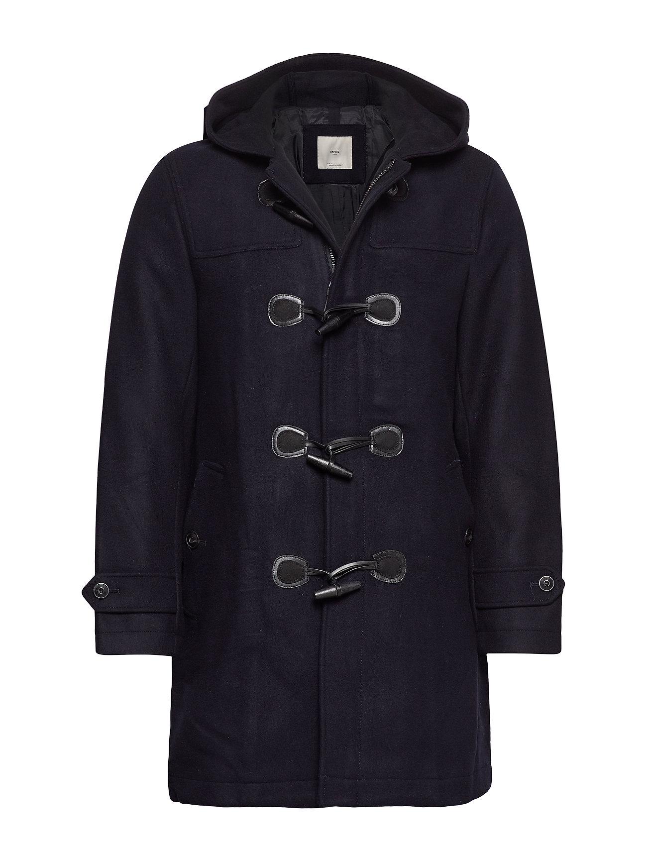 Mango Man Toggle wool coat - NAVY