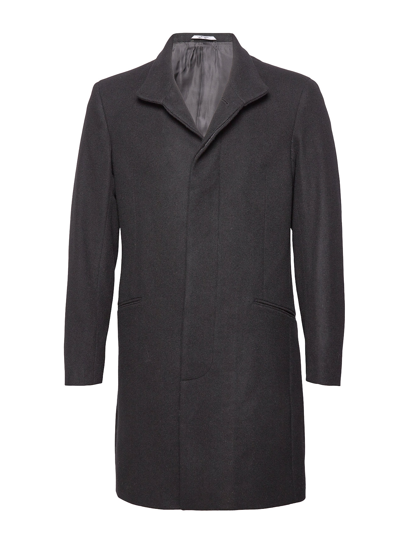 Mango Man Wool tailored coat - BLACK