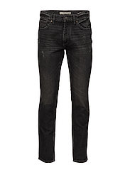 Straight-fit black Bob jeans - OPEN GREY