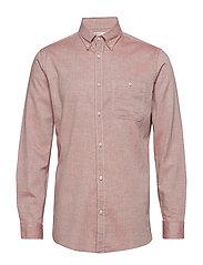 Regular-fit cotton chambray shirt - MEDIUM ORANGE