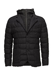 Detachable inner quilted jacket - DARK GREY