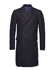 Wool tailored coat - NAVY