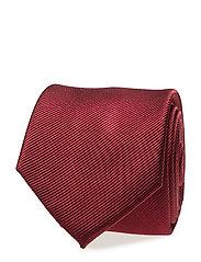 Textured silk tie - DARK RED