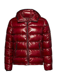 Quilted down anorak - RED