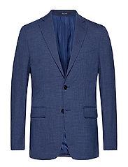 Slim fit patterned suit blazer - MEDIUM BLUE