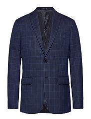 Slim fit check suit blazer - NAVY