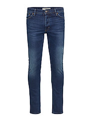 Slim-fit faded dark wash Tim jeans - OPEN BLUE