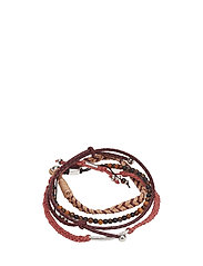 Mixed bracelet set - DARK RED