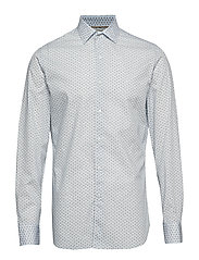 Slim-fit micro print shirt