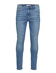 Skinny Faded Medium Wash Jude Jeans Skinny Jeans Blå MANGO MAN