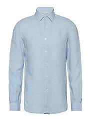 Slim-fit linen shirt - LT-PASTEL BLUE