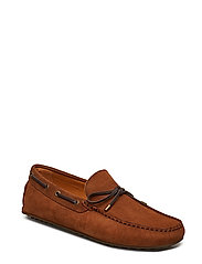 Suede Driver Loafers Shoes Business Loafers Brun MANGO MAN