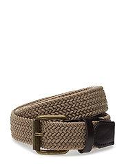 Leather-Appliqu Braided Belt