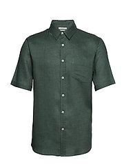 Regular-fit linen shirt - BEIGE - KHAKI